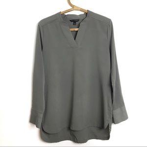 Banana Republic | olive grey blouse | Small